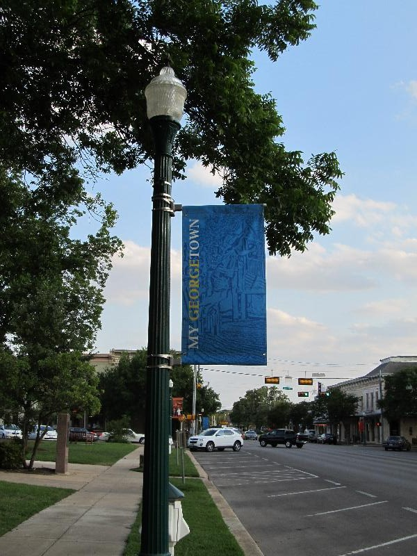 Georgetown TX Square, a classic hometown setting for community festivals, a popular gathering place