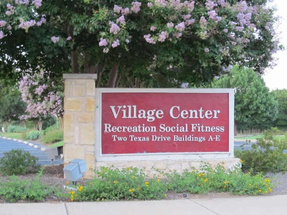 Sun City Village Center:  Craft Center, Fitness Center/Pools, Social Center, Billiards Center, Horseshoes/Washer Courts, Bocce Courts, Tennis Courts, Pickleball Courts, Veterans Memorial Plaza